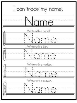 Name Practice Kindergarten Prek Set 1 Editable Fine Motor Back To School Name Writing Practice Writing Practice Name Practice Printable name tracing worksheets free