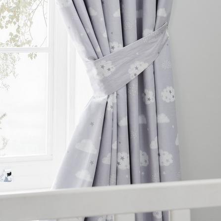 Dunelm White Sweet Dreams Blackout Pencil Pleat Curtains Childrens Curtains Baby Curtains Curtains Dunelm