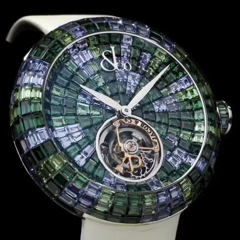 Jacob & Co. 捷克豹 [NEW][LIMITED 18 PC] Brilliant Flying Tourbillon Green Camouflage BT543.30.CG.CG.B