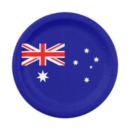 Patriotic Australian Flag Paper Plate Zazzle Com Australian Flags Australia Flag Flag