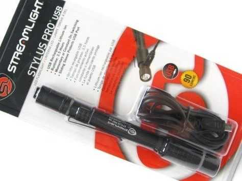 Holster, Streamlight 66134 Stylus Pro USB Rechargeable Flashlight