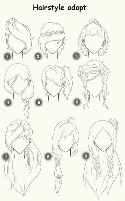 26 Trendy Hair Drawing Side Messy Buns Drawing Hair Tutorial How To Draw Hair Female Anime Hairstyles