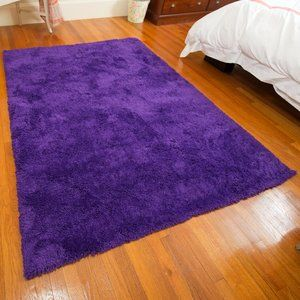 With Super Saturated Colors And Softness You Have To Feel To Believe This Violet Area Rug Creates A Warm And Inviting Barrier Betwe Area Rugs Purple Rug Rugs