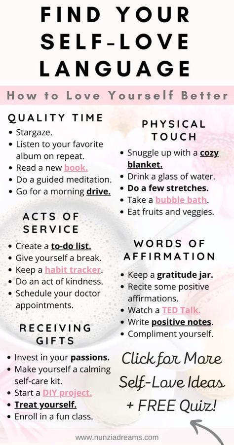 When you think of the term love languages, the first thing that may come to mind is relationships and romance. But finding your self-love language is actually an important factor in your self care routine. Here are some helpful tips and a printable quiz so you can know yours!