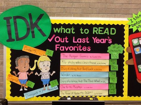 Top Books checked out last school year-- idea is good .