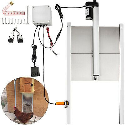 Sponsored Ebay Automatic Chicken Coop Door Opener Electric Henhouse Guard Light Sen In 2020 Automatic Chicken Coop Door Automatic Chicken Door Automatic Door Opener