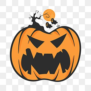 Vector Of Halloween Pumpkin With Horror And Ghost Pumpkin Clipart Halloween Background Png And Vector With Transparent Background For Free Download Halloween Poster Monster Invitations Black Banner