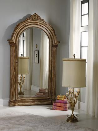 Melange Collection 638-50056 52W x 90H Vera Floor Mirror with Jewelry Armoire Storage in Medium