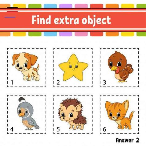 Find Extra Object. Educational Activity Worksheet For Kids And Toddlers. Game For Children. Find extra object. educational activity ...   Premium Vector #Freepik #vector #school #kids #children #education<br> Discover thousands of Premium vectors available in AI and EPS formats