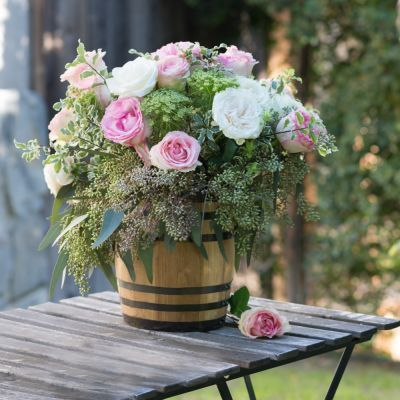 This Mini Wine Barrel Centerpiece Wine Barrel Wedding Decor Wine Barrel Wedding Wedding Table Decorations Centerpieces