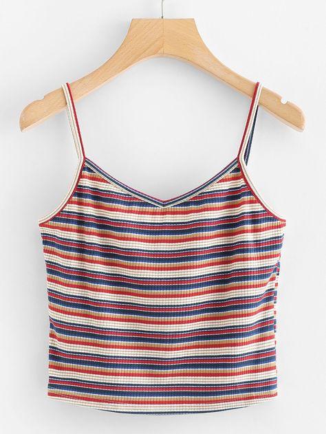 Stripe Cami TopFor Women-romwe