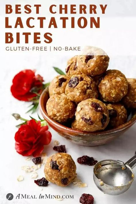 No-Bake Almond-Oat Cherry Lactation Bites