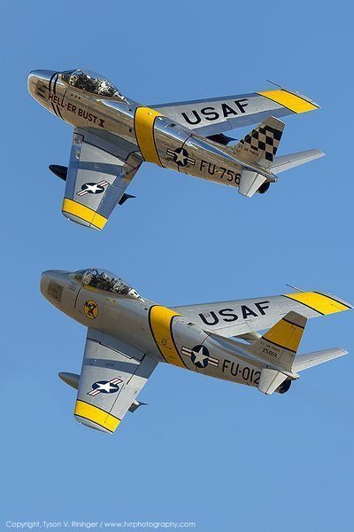 Vintage Aircraft F 86 Sabre Jets Fighter aircraft, Korean war era. Military Jets, Military Aircraft, Air Fighter, Fighter Jets, Image Avion, Sabre Jet, Photo Avion, Jet Plane, Fighter Aircraft