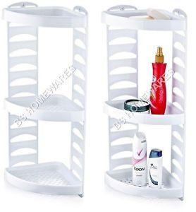 Details About Plastic Corner Shower Caddy 3 Tier Bath Storage