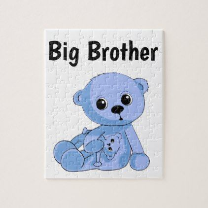 Blue teddy bear puzzle personalize baby gifts child new born blue teddy bear puzzle personalize baby gifts child new born gift idea diy cyo special negle Choice Image