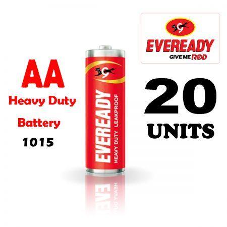 Eveready Aa Batteries 1015 Heavy Duty Pack Of 20 Heavy Duty Batteries Aa Batteries