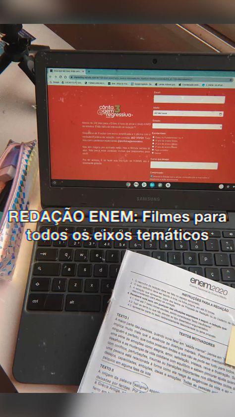 Filmes para cada eixo temático da redação ENEM