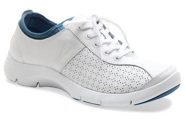 Dansko Elise White-Blue Leather $100 | MISC - wish list | Pinterest | Dansko  shoes, Footwear and Leather