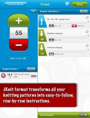 Jknit Hd Lite Knitting Pattern Reader For Ipad By Jakro Soft