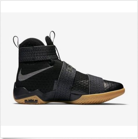 new concept d5a5b b5db4 Nike Lebron Soldier 10 SFG 844378-009 Black Gum CAVS New Men Size  7.5-14   Nike  AthleticSneakers