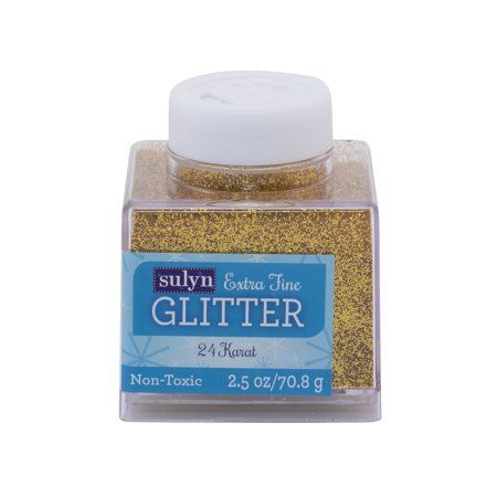 Sulyn Extra Fine Glitter 24 Karat Extra Fine Glitter Glitter Scrapbook Supplies