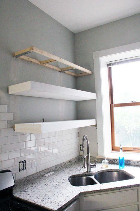 White Floating Shelves Tutorial Floating Shelves Diy Open