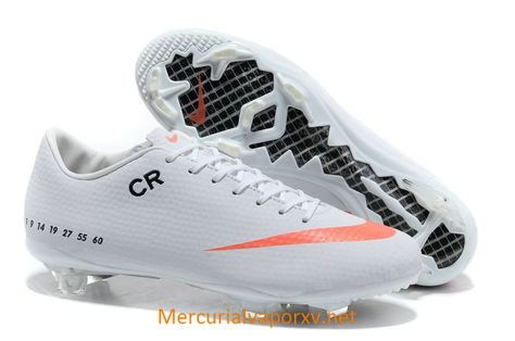 Nike Mercurial CR7 Veloce FG Soccer Cleats White Orange