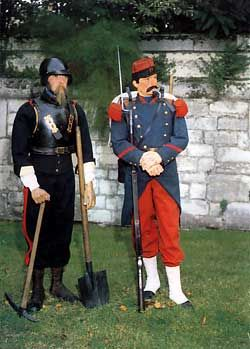 French Sapper & Infantryman Uniforms, The Crimean War