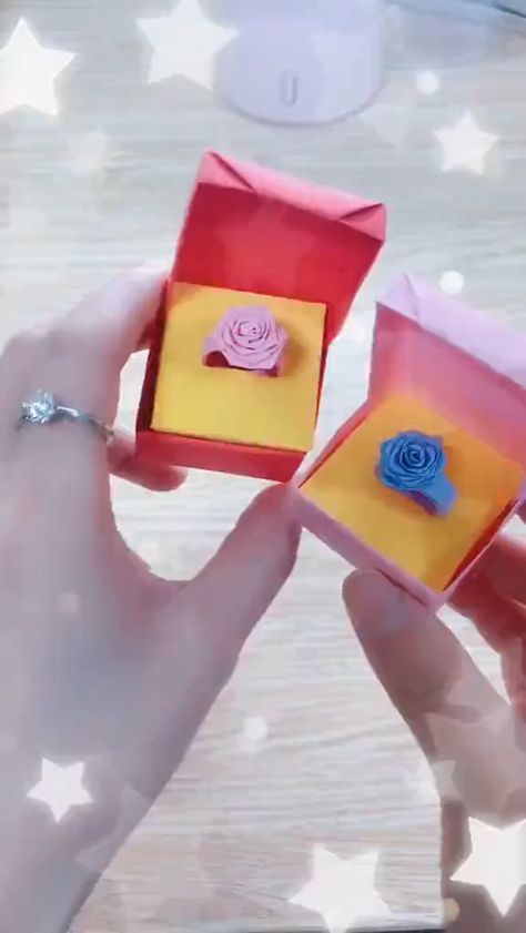 Origami Crafts, Origami Rose Ring Tutorial. Visit the website for more origami tutorials. #crafts #diy #handmade #gifts #origami #rose #personalized