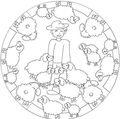 Mandalas De Profesiones Y Oficios Mandalas Para Colorear Artesanias De Historia De La Biblia Mandalas Para Ninos