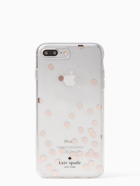 Kate Spade Confetti Rose Gold Foil Iphone 7 8 Plus Case Clear Kate Spade Phone Case Iphone Case