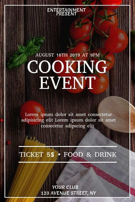 Cooking Event Flyer Template Chili Cook Off Cook Off Restaurant Flyer