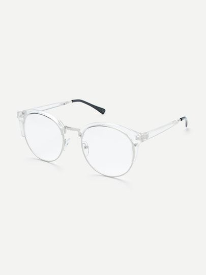 7d7ca10320 Clear Frame Glasses With Clear Lens -SheIn(Sheinside)