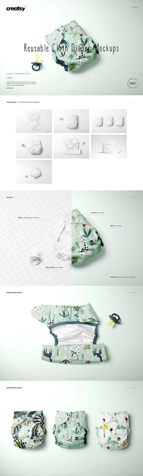 Reusable Cloth Diaper Mockup Set