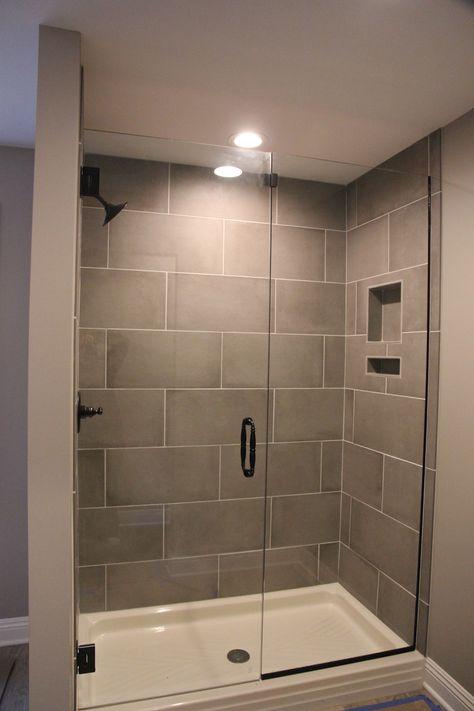Boys Showers Big Tiles Fiberglass Base No Shower Door Easier