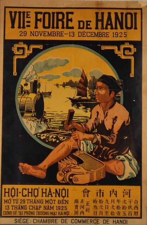 1931 Lu0027Indochine 05 Artsies Pinterest Vietnam, Travel posters