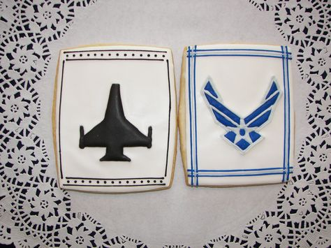 Air Force Fighter Pilot Cookies. $48.00, via Etsy.