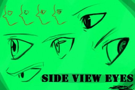 Eye Drawing Cartoon Male 68 New Ideas In 2020 Eye Drawing Anime Side View Side View Drawing