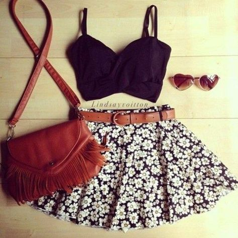 e581a54fb252 Summer Outfit Ideas with Crop Tops - Pretty Designs