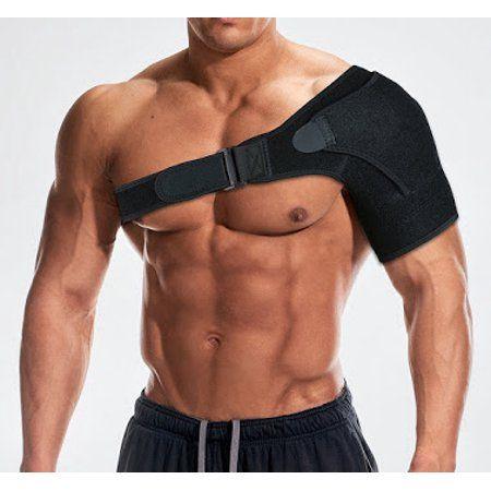 Sports & Outdoors Adjustable Shoulder Support Brace Strap Joint Sport Gym Compression Neoprene NEW (