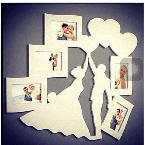 laser cut or cnc cut Bride groom photo frame dxf ai pdf eps downloadable