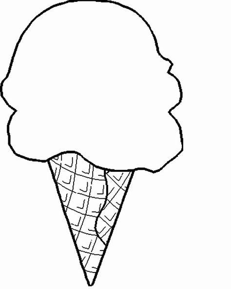24 Ice Cream Cone Coloring Page In 2020 Ice Cream Coloring