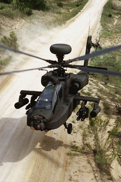 US boeing AH-64D Longbow Apache attack helicopter.