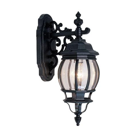 Livex Lighting Providence Wall Mount 1 Light Black Outdoor