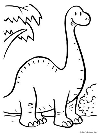 Brachiosaurus Coloring Page Dinosaur Coloring Pages