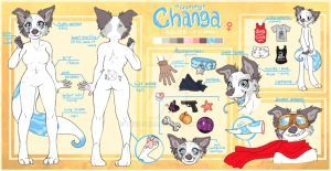 Commission Changa Reference Sheet By Nekoshiba Furry Design