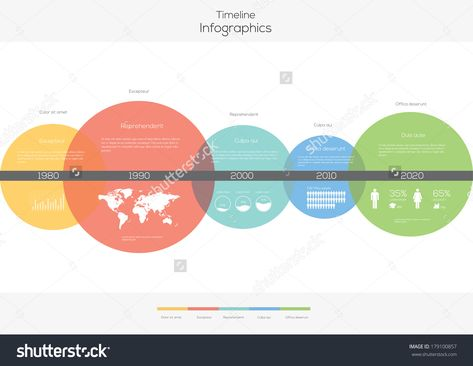 stock-vector-timeline-circles-infographic-flat-vector-design - keynote timeline template