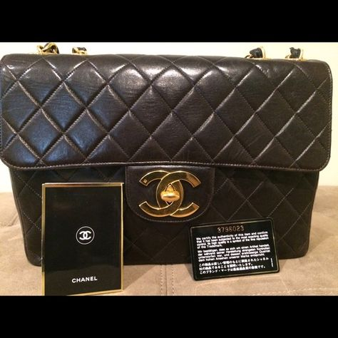 246cce8ac5e9 Chanel Vintage Jumbo lamp skin Chanel vintage jumbo lamb skin (year 1994- 1996).It does n t have Chanel dust bag but I will give LV dust bag instead.
