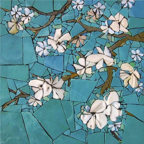 Michelle Combeau | Hommage à Van Gogh. Pâte de verre Albertini - 340 x 340 mm sur support béton