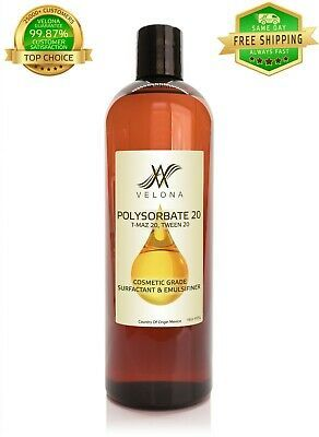 Polysorbate 20 T Maz 20 Tween 20 Surfactant Solubilizer 100 Pure Natural 16 Oz Get One In 2020 Pure Products Polysorbate 20 Lubricant